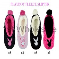 PLAYBOY LADIES FLEECE SLIPPER
