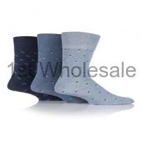 GENTLE GRIP BLUE SQUARED DESIGN SOCKS