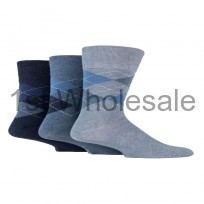 GENTLE GRIP BLUE ARGYLE DESIGN SOCKS