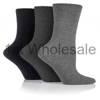 DARK ASSORTED GENTLE GRIP SOCKS