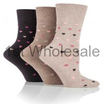 HEART DESIGN GENTLE GRIP SOCKS