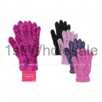 DARK PASTEL FEATHER TOUCH GLOVES