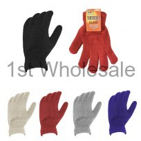 LADIES THERMAL GLOVES ASSORTED COLOURS