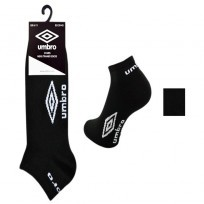 UMBRO BLACK TRAINER SOCKS