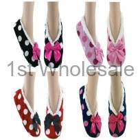 LADIES SOFTEEZ SLIPPER DOT PRINTS
