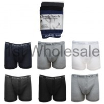 3PK CLASSIC SPORT GREY BAND BOXER SHORTS