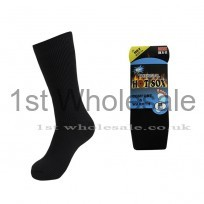 MENS PLAIN BLACK HOTSOX