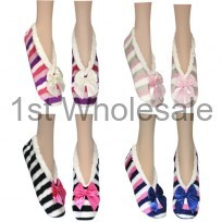LADIES SOFTEEZ SLIPPER STRIPED PRINTS
